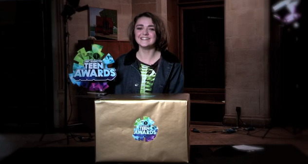 maisie williams teen awards 2013 winner british